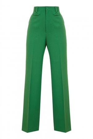 Зеленые брюки-клеш Gucci. Цвет: зеленый