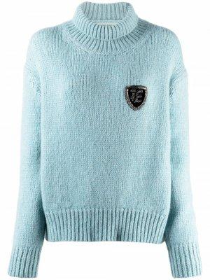 Crest-embellished jumper Ermanno Scervino. Цвет: синий