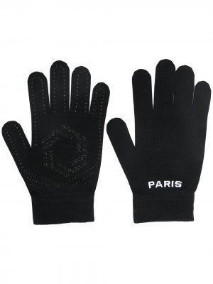 Перчатки с логотипом Givenchy. Цвет: черный