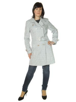 Пальто AURORA. Цвет: серо-голубой