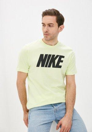 Футболка Nike M NSW TEE ICON BLOCK. Цвет: желтый