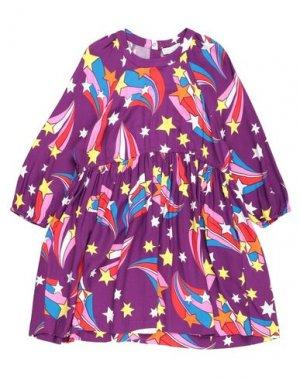 Платье STELLA McCARTNEY KIDS. Цвет: фиолетовый