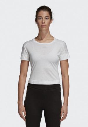Футболка спортивная adidas W Id Slim T. Цвет: белый