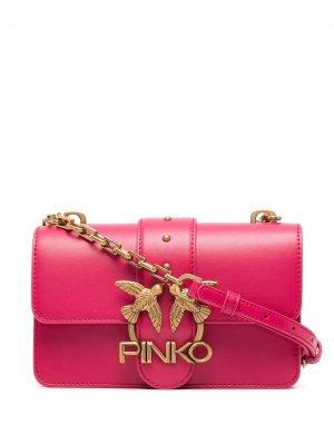 Сумка-сэтчел с логотипом Pinko. Цвет: розовый