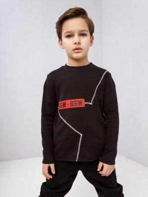 Лонгслив KIDS ID STAR Black Wear. Цвет: черный