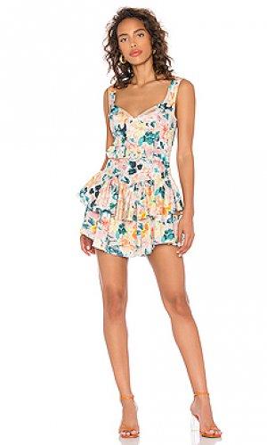 Мини платье holis For Love & Lemons. Цвет: peach