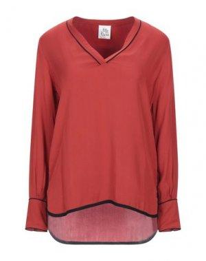 Блузка ATTIC AND BARN. Цвет: ржаво-коричневый