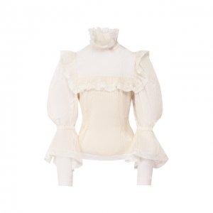 Шелковая блузка Marc Jacobs Runway. Цвет: белый
