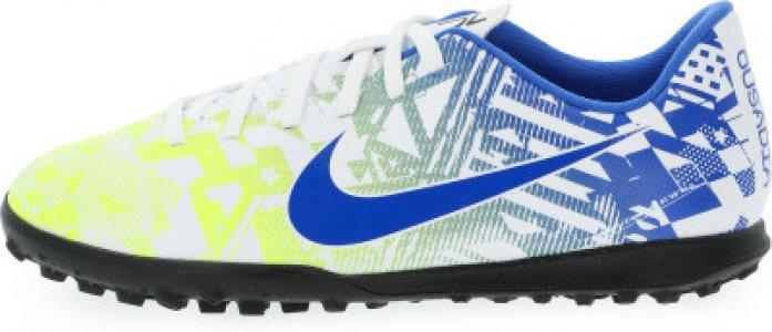 Бутсы для мальчиков Jr Vapor 13 Club Njr Tf, размер 37.5 Nike. Цвет: белый