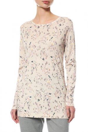 Пуловер MAXMARA. Цвет: бежевый, белый, черный