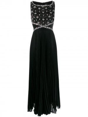 Декорированное платье без рукавов Ermanno. Цвет: черный