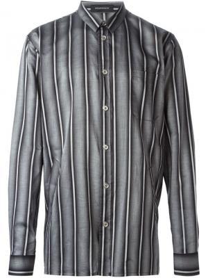 Рубашка в полоску Kris Van Assche. Цвет: серый