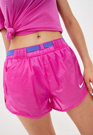 Шорты спортивные Nike W NK ICNCLSH SHORT. Цвет: розовый