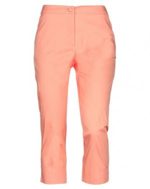 Брюки-капри ELISA FANTI. Цвет: лососево-розовый