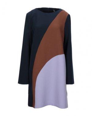 Короткое платье 1-ONE. Цвет: темно-синий