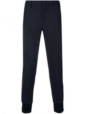 Классические зауженные брюки Neil Barrett. Цвет: синий