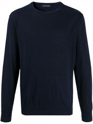 Пуловер с круглым вырезом Falke. Цвет: синий