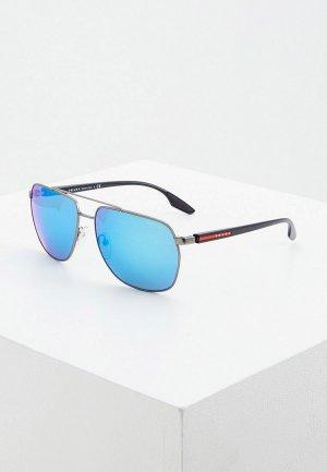 Очки солнцезащитные Prada Linea Rossa PS 55VS 7CQ5M2. Цвет: синий