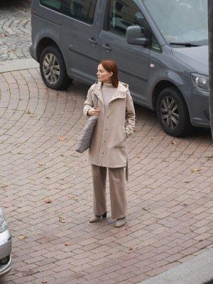 Парка Казань из пальтовой ткани GATE31. Цвет: бежевый