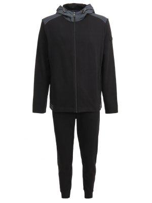 Спортивный костюм из хлопка MICHAEL KORS. Цвет: черный