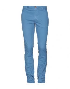 Повседневные брюки BOSS HUGO. Цвет: лазурный