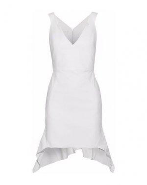 Короткое платье ANTONIO BERARDI. Цвет: белый
