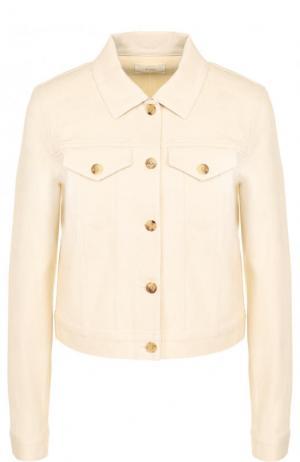Укороченная джинсовая куртка The Row. Цвет: бежевый