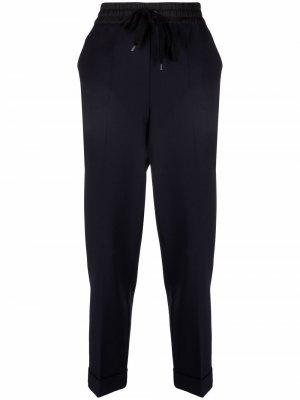 Drawstring-waist trousers P.A.R.O.S.H.. Цвет: синий