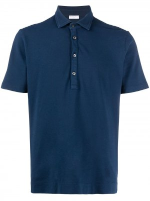 Рубашка-поло из ткани пике Boglioli. Цвет: синий