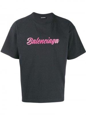 Футболка с логотипом Balenciaga. Цвет: черный