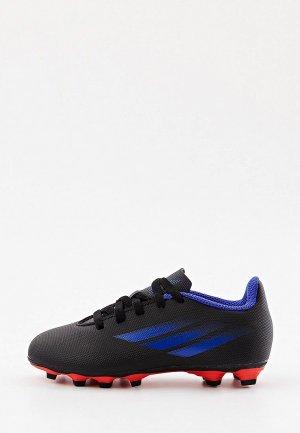 Бутсы adidas X SPEEDFLOW.4 FXG J. Цвет: черный