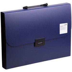 Папка-портфель а4, 13 отделений, 700 мкм, calligrata, до 300 листов, синяя Calligrata