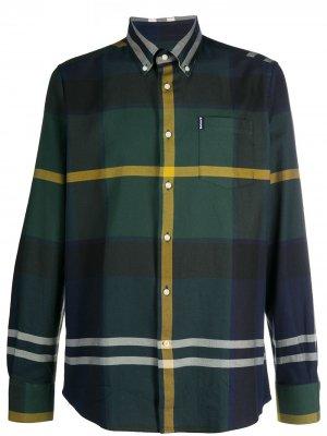 Клетчатая рубашка с длинными рукавами Barbour. Цвет: зеленый