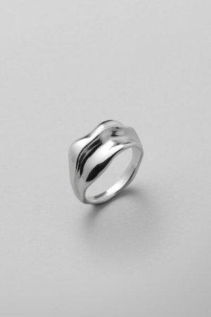 Кольцо Trine Weekday. Цвет: серебристый