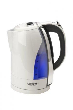 Чайник электрический 1,7л Vitesse. Цвет: белый, черный