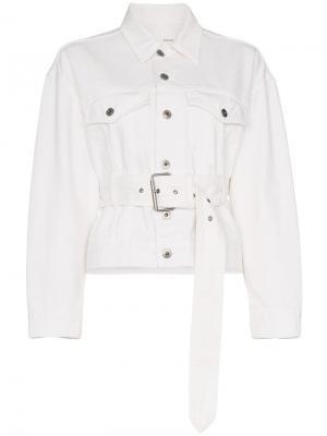 Джинсовая куртка PSWL с поясом Proenza Schouler. Цвет: белый