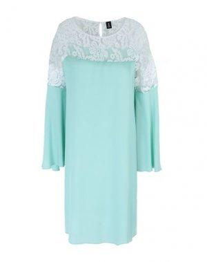 Короткое платье 1-ONE. Цвет: светло-зеленый