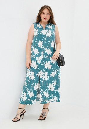Платье Forus. Цвет: бирюзовый