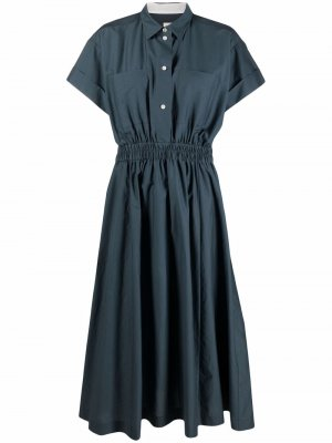 Платье-рубашка с короткими рукавами PAUL SMITH. Цвет: синий