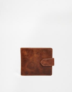 Кожаный бумажник New Look. Цвет: мокка