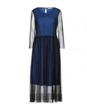 Платье длиной 3/4 CARACTÈRE. Цвет: темно-синий