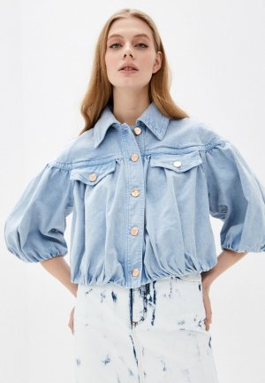 Куртка джинсовая Vivetta. Цвет: голубой