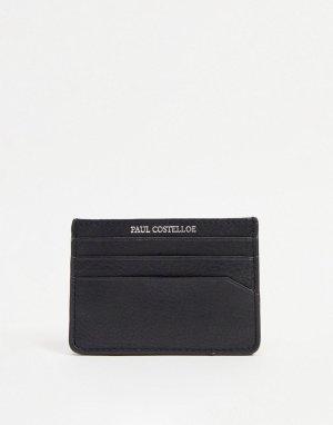 Кожаная кредитница -Черный цвет Paul Costelloe