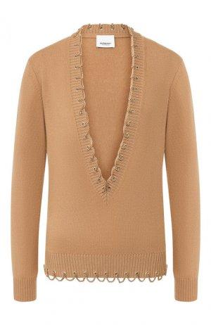 Кашемировый пуловер Burberry. Цвет: бежевый