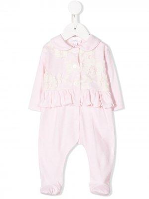 Floral embroidered bodysuit Aletta. Цвет: розовый
