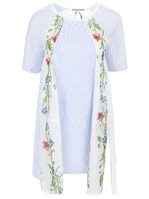 Хлопковая блуза с принтом HIGH