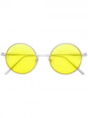 Круглые солнцезащитные очки Scientist Acne Studios. Цвет: серебристый