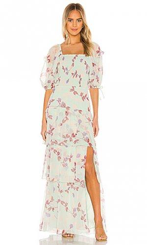 Макси платье florentina Amanda Uprichard. Цвет: зеленый