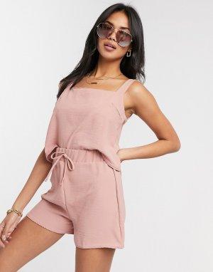 Розовые пляжные шорты с затягивающимся шнурком -Розовый New Girl Order