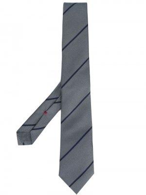Классический галстук Brunello Cucinelli. Цвет: серый